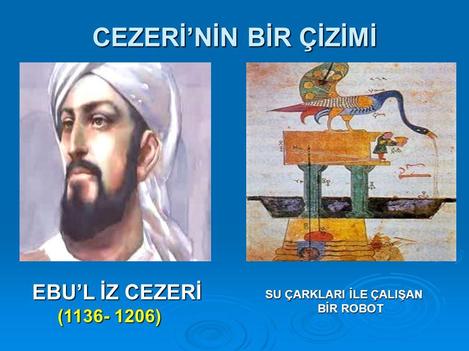CEZERİ'NİN BİR ÇİZİMİ EBU'L İZ CEZERİ (1136- 1206)