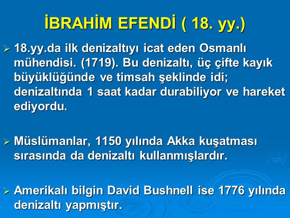 İBRAHİM EFENDİ ( 18. yy.)