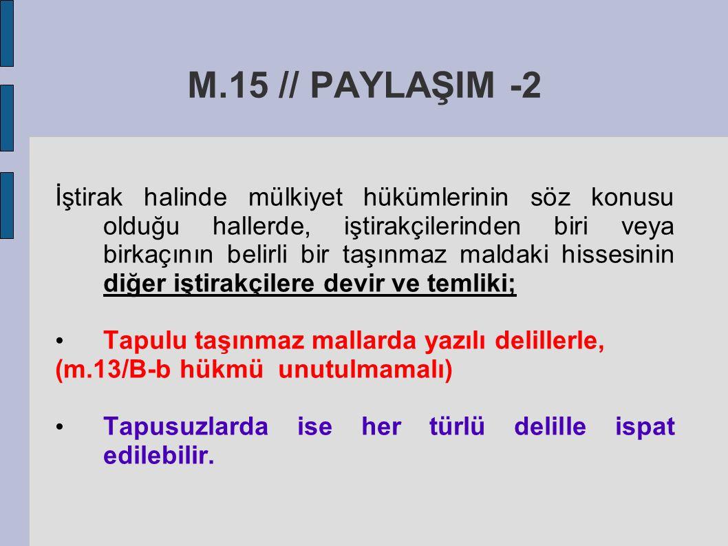 M.15 // PAYLAŞIM -2