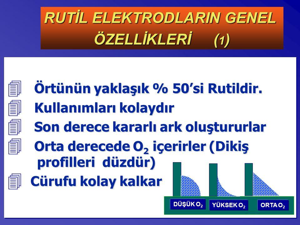 RUTİL ELEKTRODLARIN GENEL