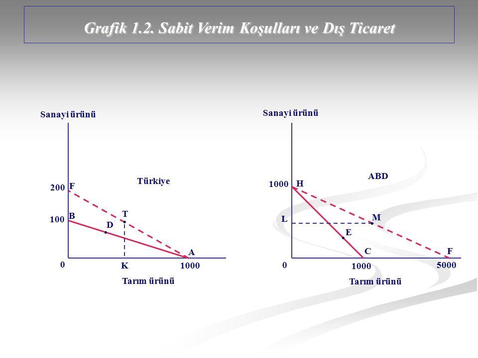 Grafik 1.2. Sabit Verim Koşulları ve Dış Ticaret