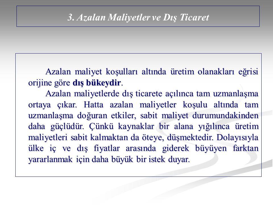 3. Azalan Maliyetler ve Dış Ticaret
