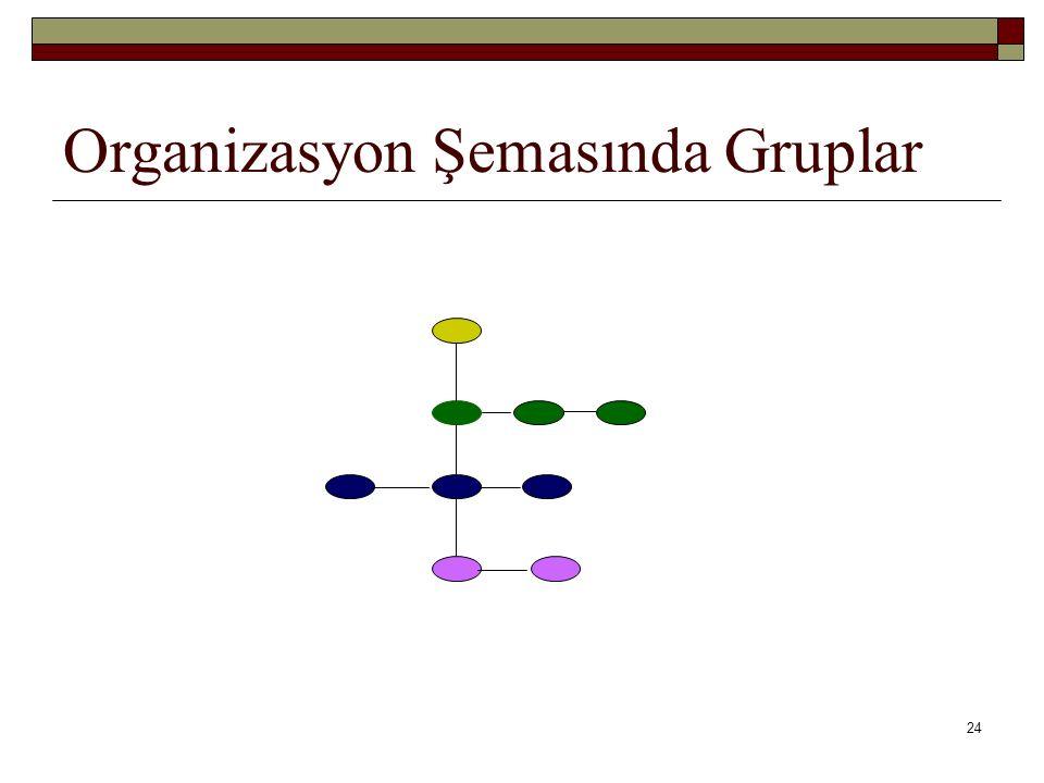 Organizasyon Şemasında Gruplar