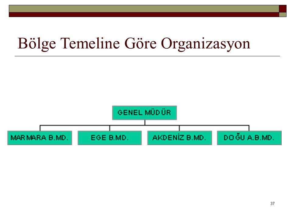 Bölge Temeline Göre Organizasyon