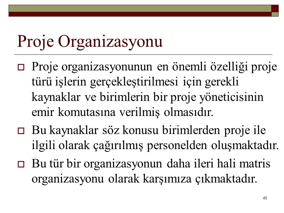Proje Organizasyonu
