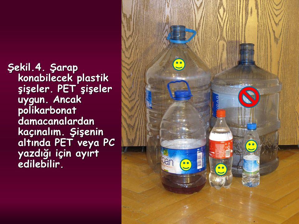 Şekil. 4. Şarap konabilecek plastik şişeler. PET şişeler uygun