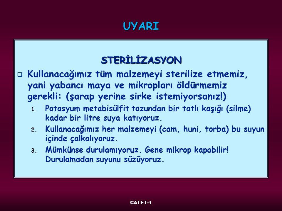 UYARI STERİLİZASYON.