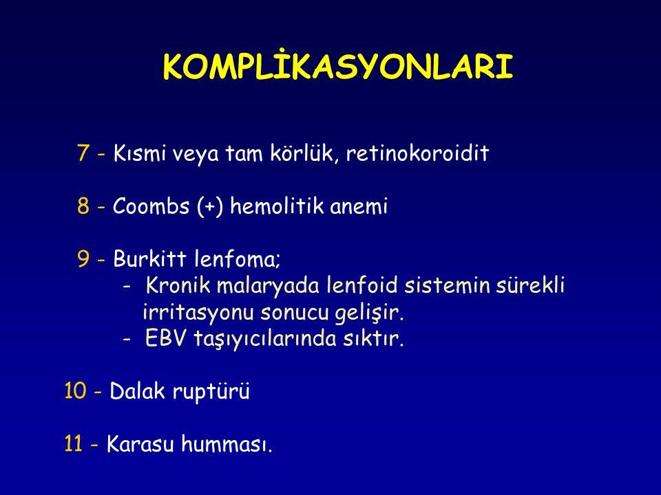 KOMPLİKASYONLARI 7 - Kısmi veya tam körlük, retinokoroidit