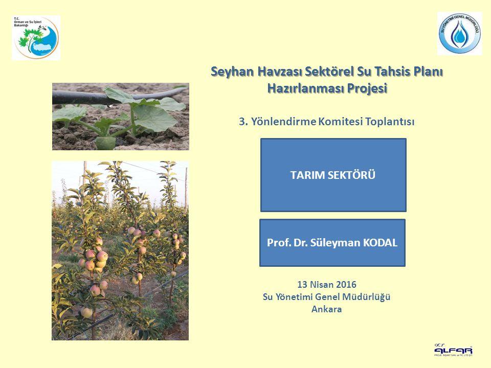 Seyhan Havzası Sektörel Su Tahsis Planı Hazırlanması Projesi 3