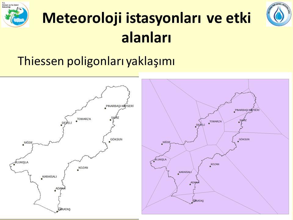 Meteoroloji istasyonları ve etki alanları
