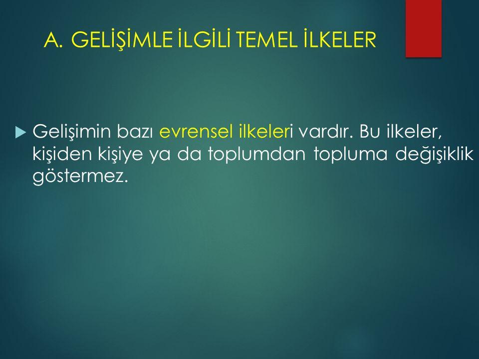 A. GELİŞİMLE İLGİLİ TEMEL İLKELER