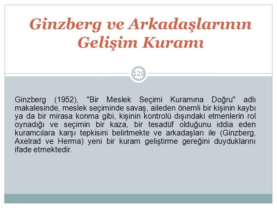 Ginzberg ve Arkadaşlarının Gelişim Kuramı