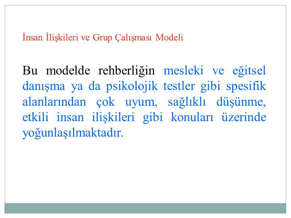 İnsan İlişkileri ve Grup Çalışması Modeli