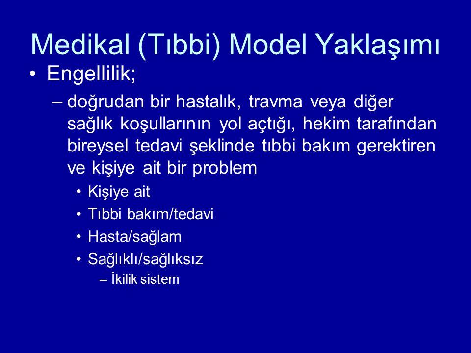 Medikal (Tıbbi) Model Yaklaşımı