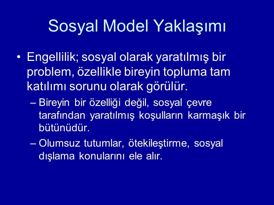 Sosyal Model Yaklaşımı