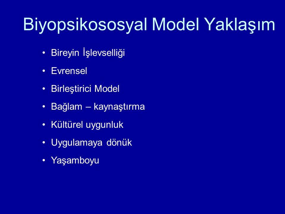 Biyopsikososyal Model Yaklaşım