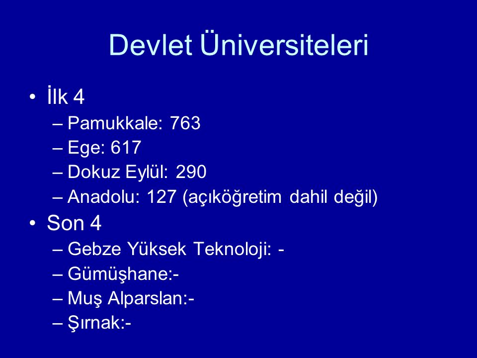 Devlet Üniversiteleri