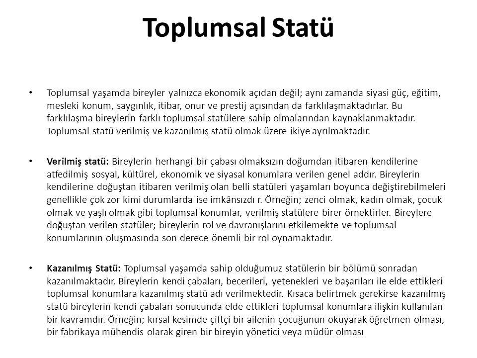 Toplumsal Statü