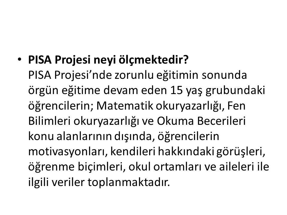 PISA Projesi neyi ölçmektedir