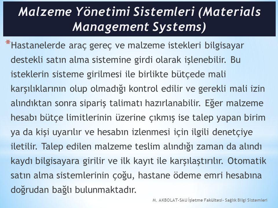 Malzeme Yönetimi Sistemleri (Materials Management Systems)