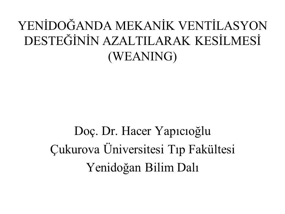Doç. Dr. Hacer Yapıcıoğlu Çukurova Üniversitesi Tıp Fakültesi