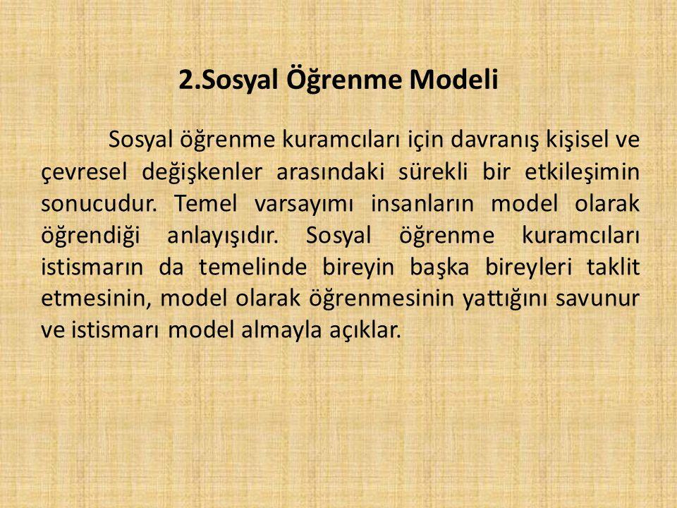 2.Sosyal Öğrenme Modeli