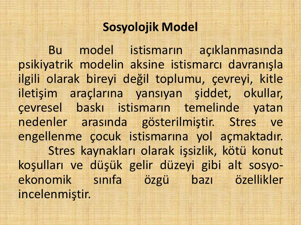 Sosyolojik Model