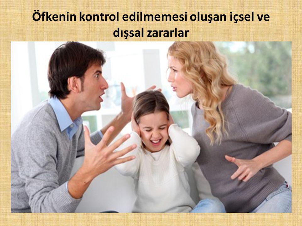 Öfkenin kontrol edilmemesi oluşan içsel ve dışsal zararlar