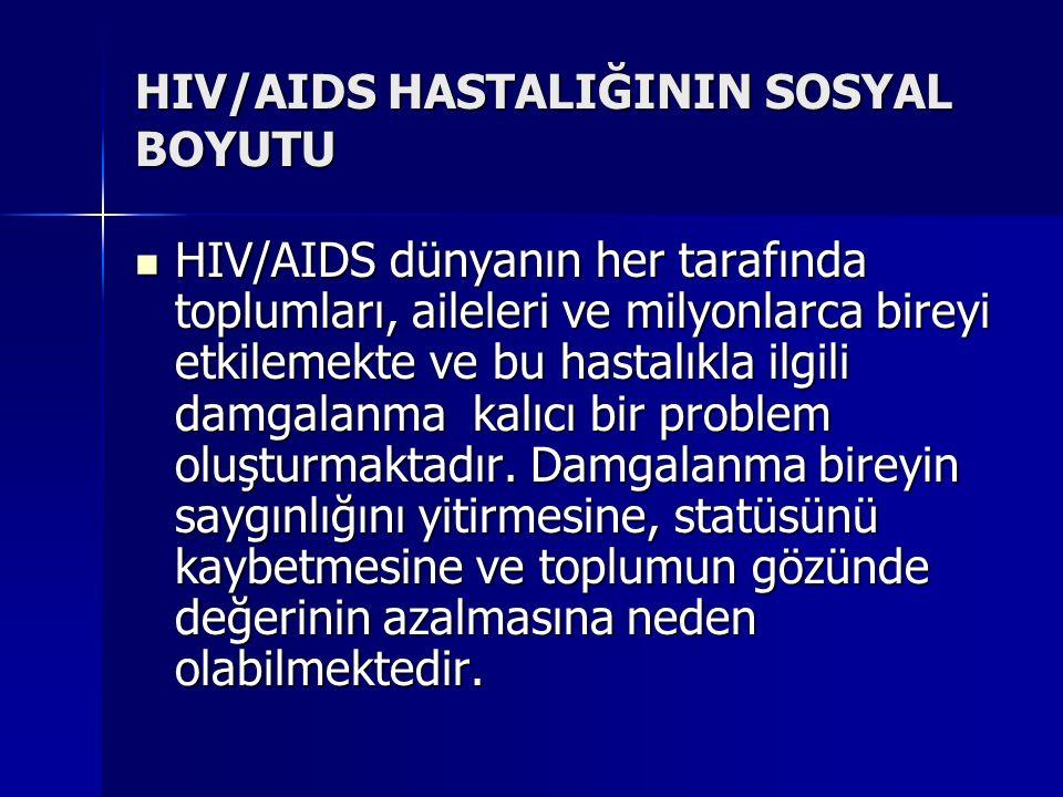 HIV/AIDS HASTALIĞININ SOSYAL BOYUTU