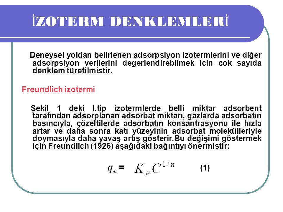 İZOTERM DENKLEMLERİ