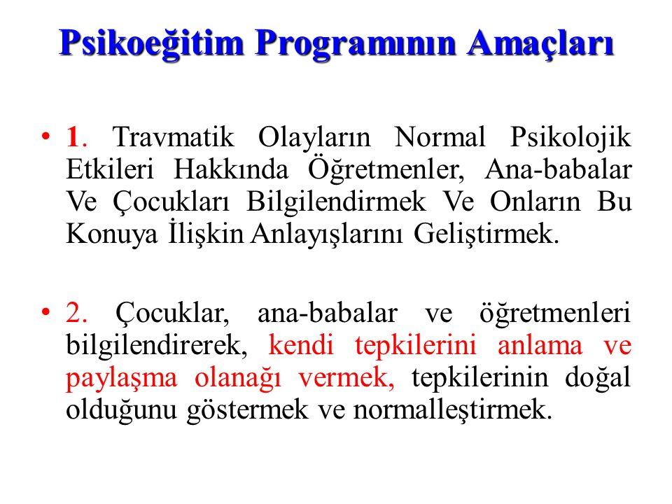 Psikoeğitim Programının Amaçları