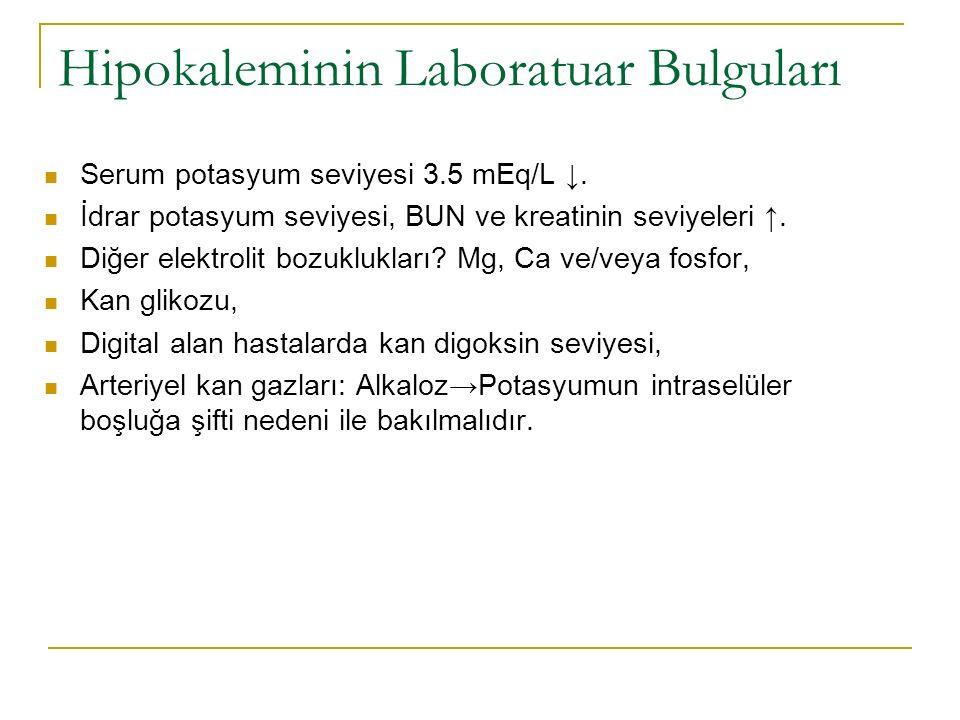 Hipokaleminin Laboratuar Bulguları