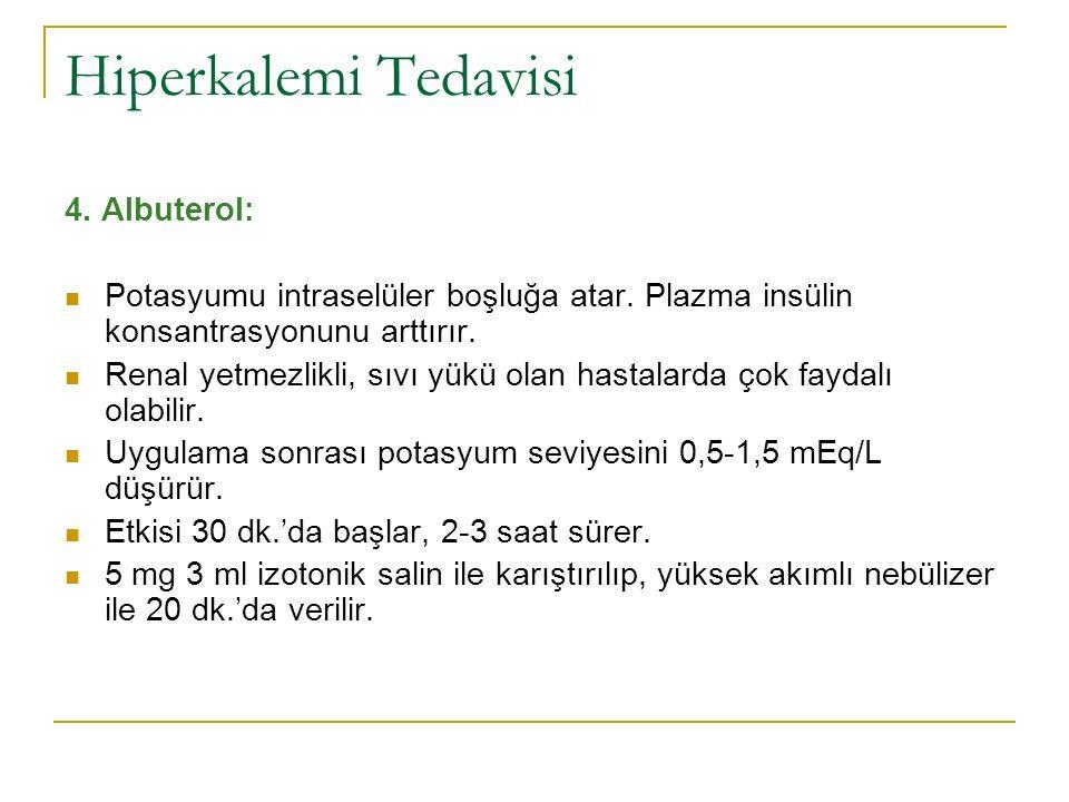 Hiperkalemi Tedavisi 4. Albuterol:
