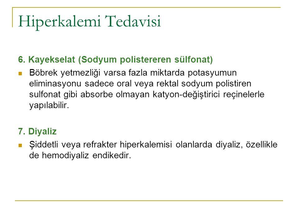 Hiperkalemi Tedavisi 6. Kayekselat (Sodyum polistereren sülfonat)