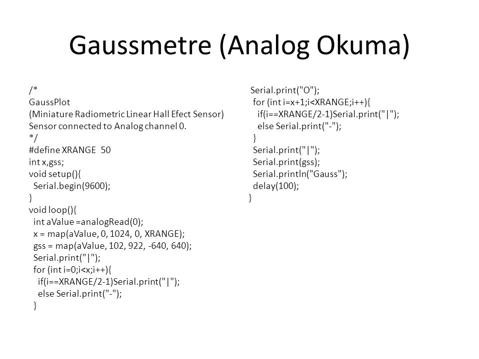 Gaussmetre (Analog Okuma)