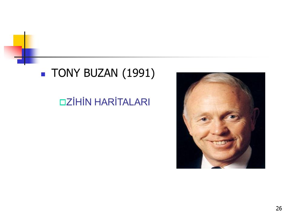 TONY BUZAN (1991) ZİHİN HARİTALARI