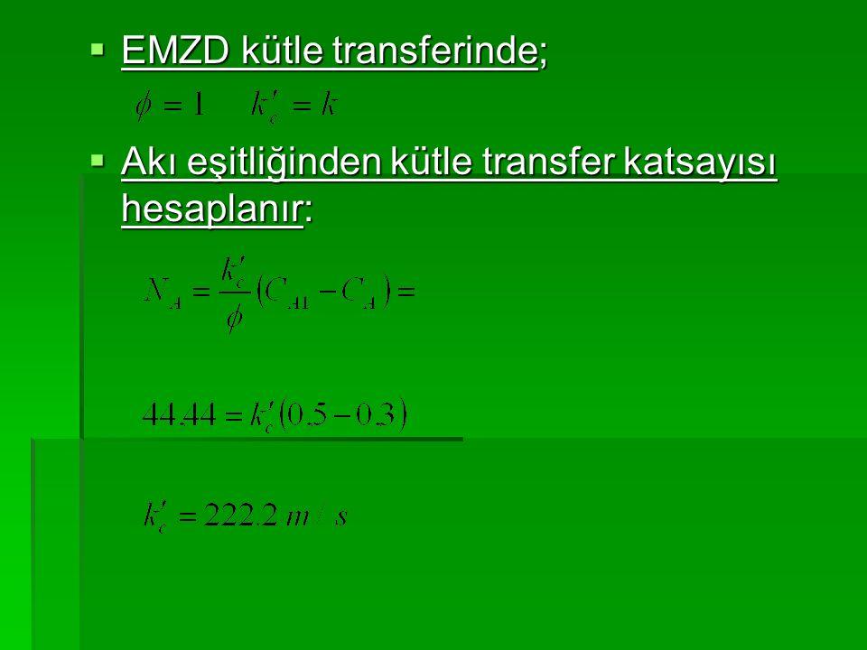 EMZD kütle transferinde;