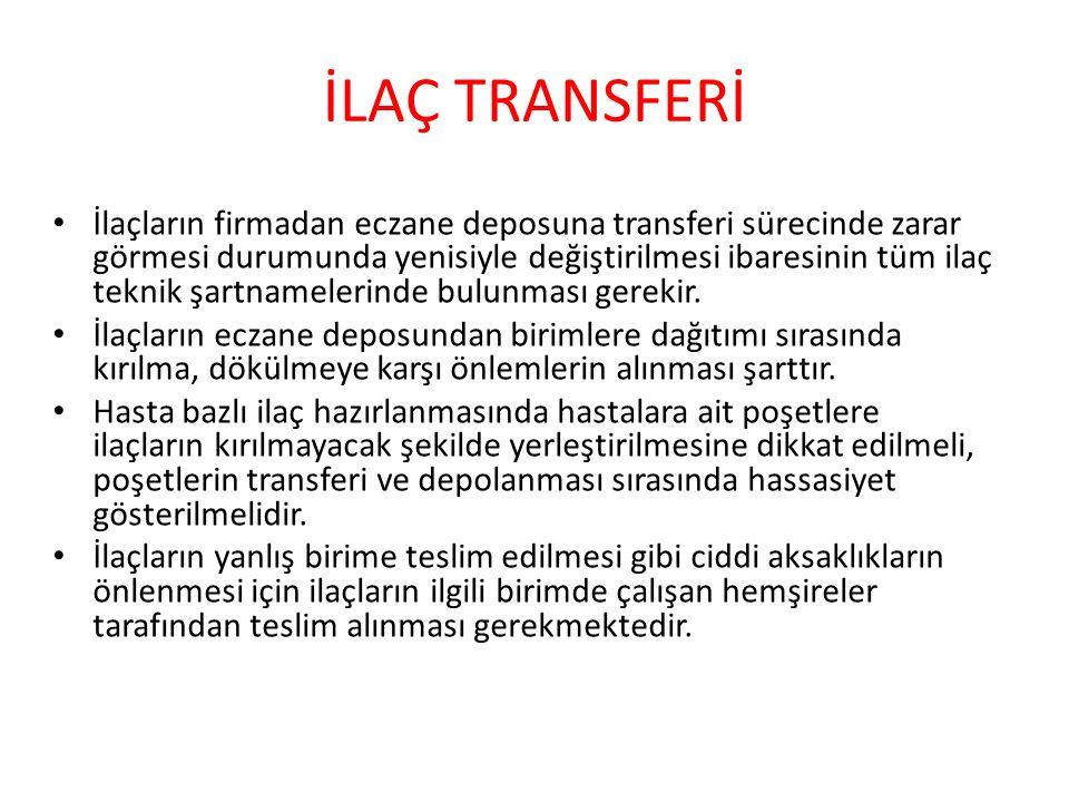 İLAÇ TRANSFERİ