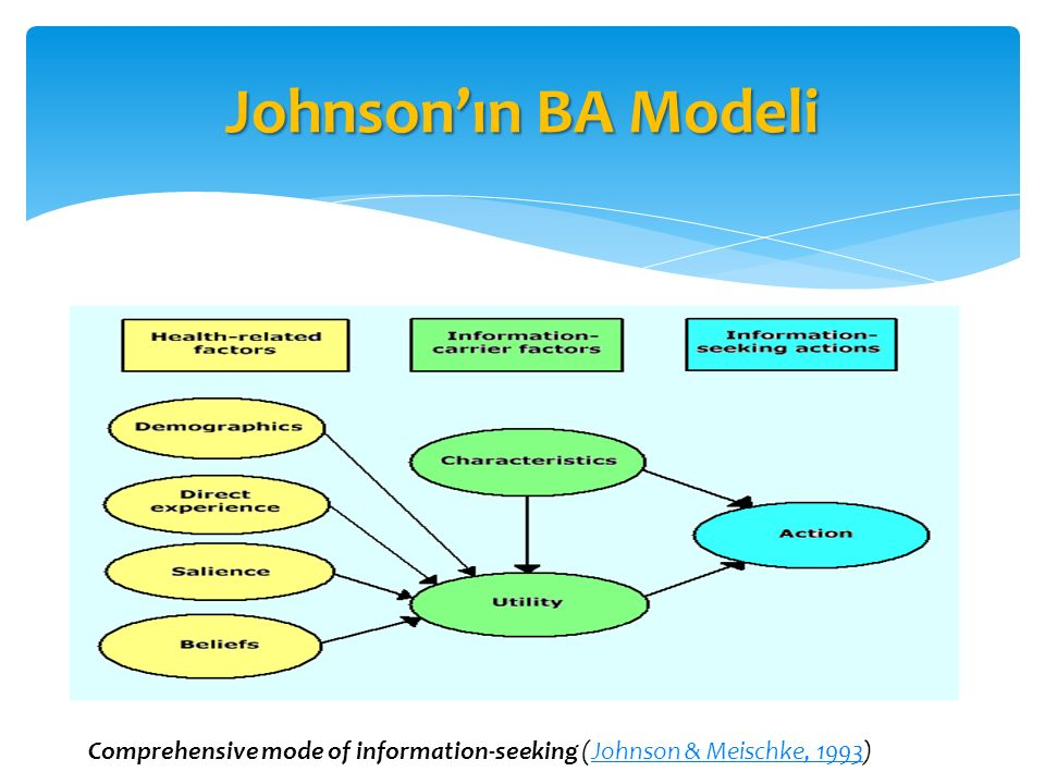 Johnson'ın BA Modeli Comprehensive mode of information-seeking (Johnson & Meischke, 1993)