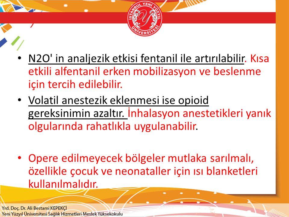 N2O in analjezik etkisi fentanil ile artırılabilir