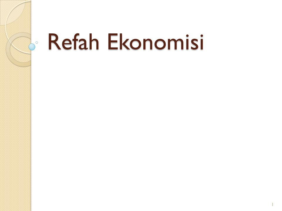 Refah Ekonomisi
