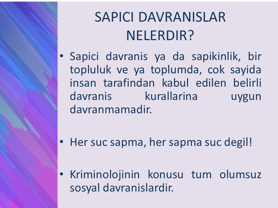 SAPICI DAVRANISLAR NELERDIR