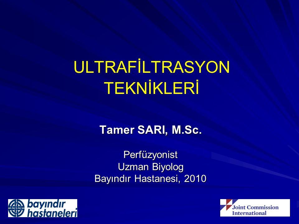 ULTRAFİLTRASYON TEKNİKLERİ