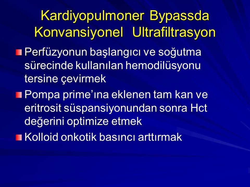 Kardiyopulmoner Bypassda Konvansiyonel Ultrafiltrasyon