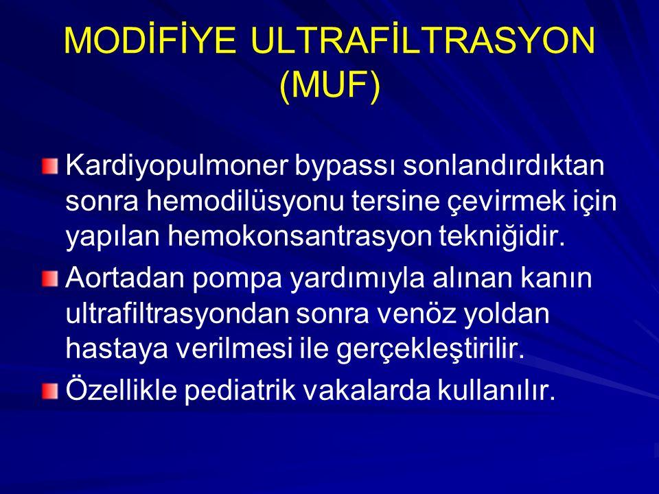 MODİFİYE ULTRAFİLTRASYON (MUF)