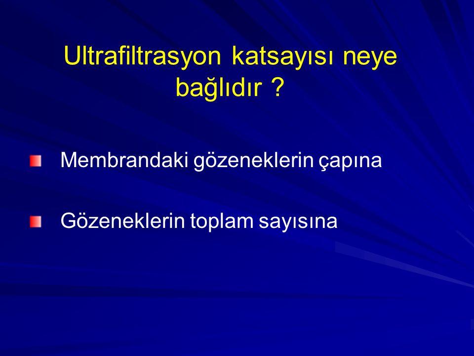 Ultrafiltrasyon katsayısı neye bağlıdır