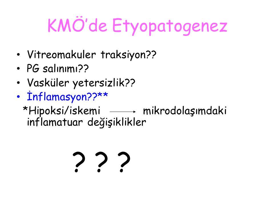KMÖ'de Etyopatogenez Vitreomakuler traksiyon PG salınımı