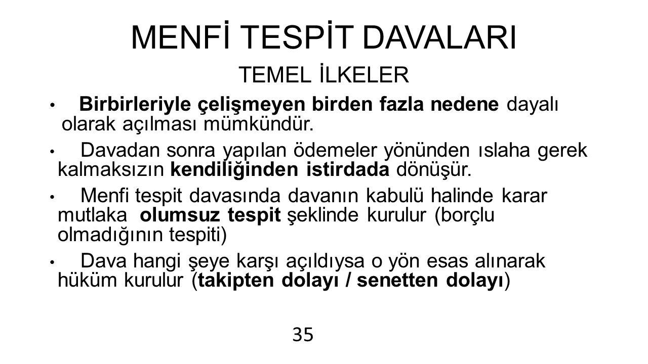 MENFİ TESPİT DAVALARI TEMEL İLKELER