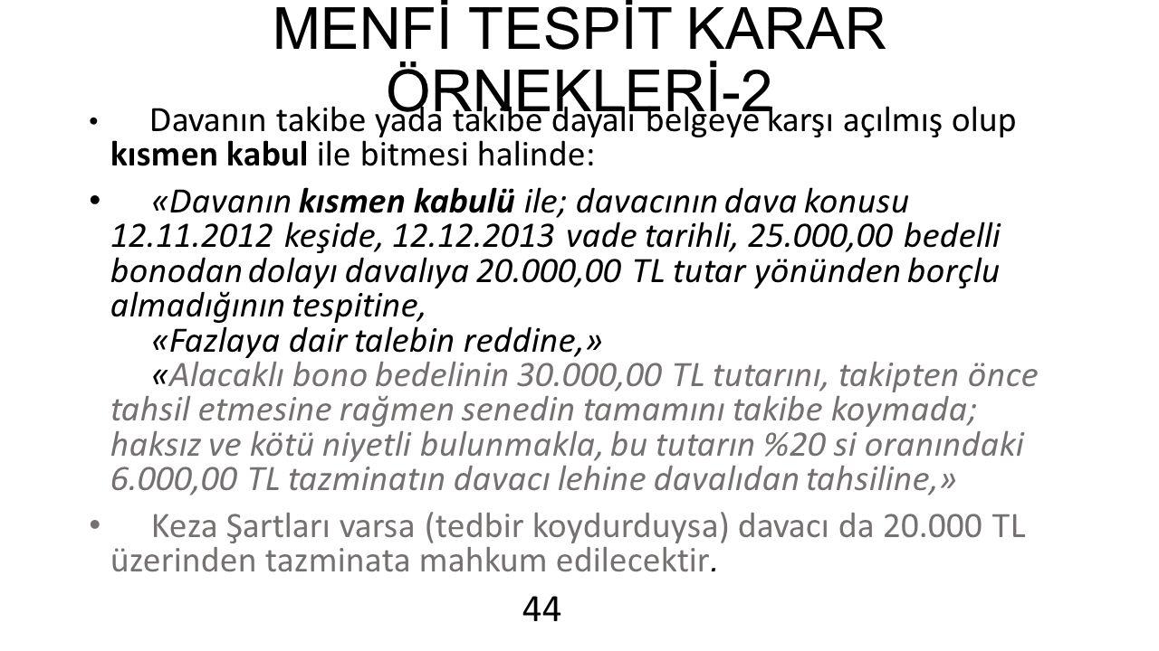 MENFİ TESPİT KARAR ÖRNEKLERİ-2