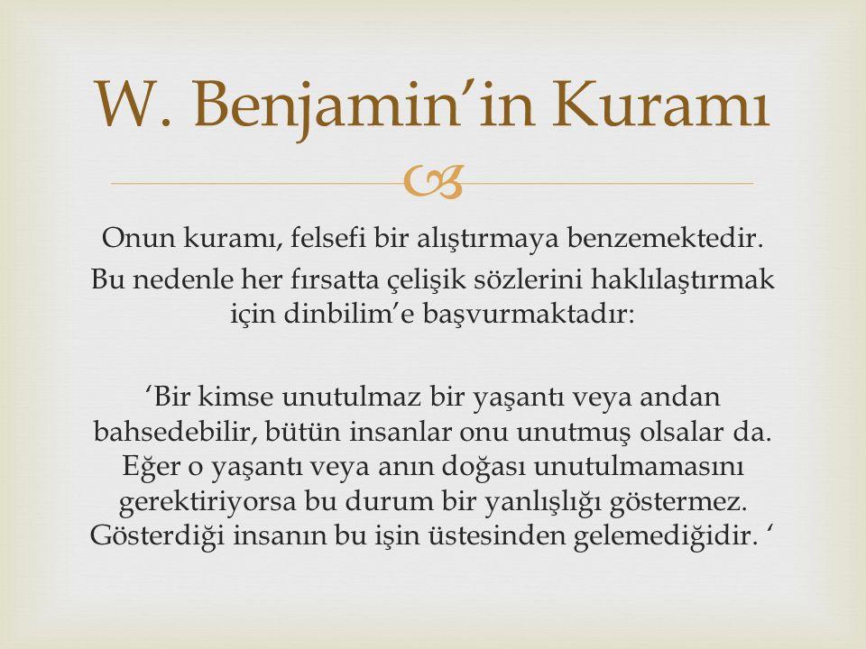 W. Benjamin'in Kuramı